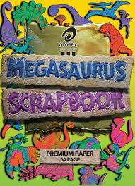 OLYMPIC SCRAPBOOK MEGASAURUS STAPLED 90GSM BOND PAPER 335 X 240MM 64 PAGE