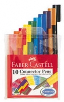 FABER-CASTELL CONNECTOR PEN ASSORTED WALLET 10