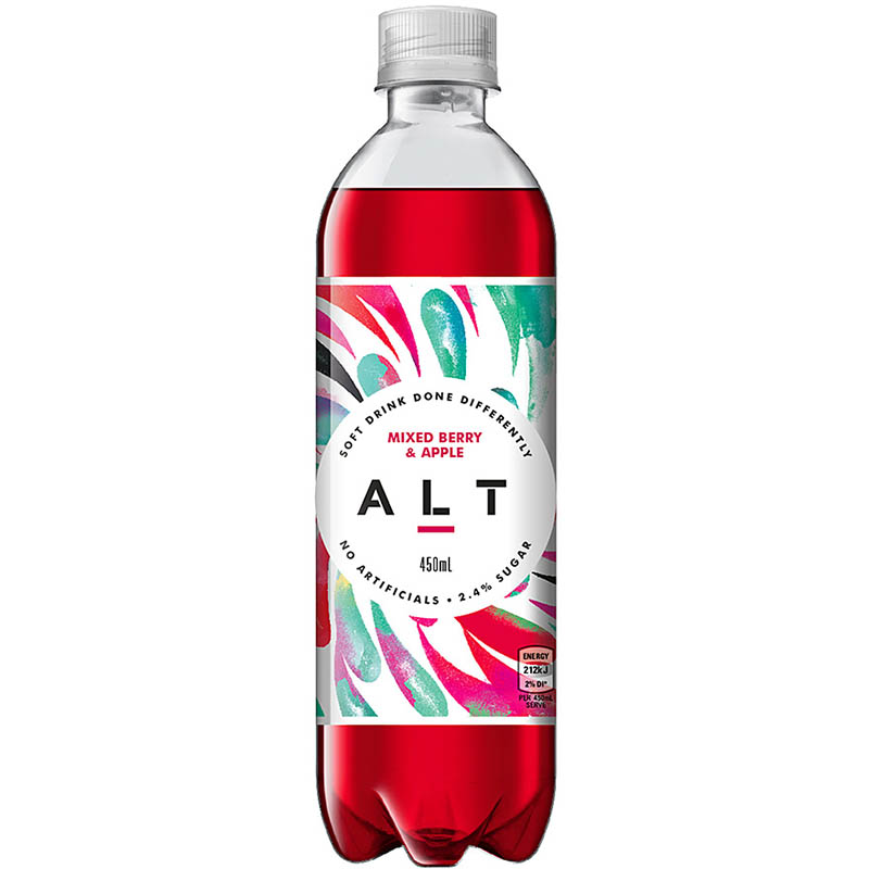 Alt Mixed Berry And Apple Soft Drink 450ml Carton 12