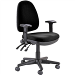 BURO VERVE TASK CHAIR HIGH BACK 3LEVER ARMS JETT BLACK