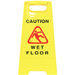 CLEANLINK SAFETY SIGN WET FLOOR 320 X 310 X 650MM YELLOW