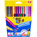 BIC KIDS CASCADE MARKER ASSORTED PACK 12