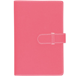 DEBDEN ACCENT PU COMPENDIUM WITH A4 NOTEPAD PINK