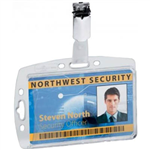 DURABLE ACRYLIC PASS HOLDER WITH CLIP PACK 10