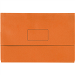 INITIATIVE DOCUMENT WALLET 345 X 225MM ORANGE PACK 50