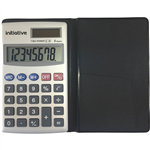 INITIATIVE POCKET CALCULATOR 8 DIGIT DUAL POWERED GREY