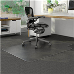 MARBIG DURAMAT CHAIRMAT PVC KEYHOLE LOW PILE CARPET 910 X 1210MM