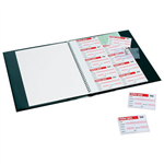 REXEL VISITORS BOOK REFILLS 100 BADGE INSERTS