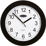 CARVEN CLASSIC WALL CLOCK 250MM BLACK FRAME
