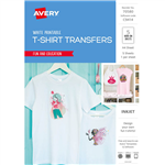 AVERY 70580 C9414 INSPIRED TSHIRT TRANSFER A4 WHITE PACK 5
