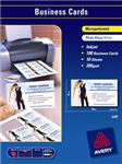 AVERY 70856 IJ42 PHOTO GLOSS MICRO PERFORATED BUSINESS CARDS 205GSM PACK 100