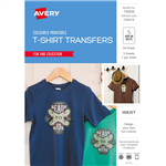 AVERY 79009 C9414 INSPIRED TSHIRT TRANSFER A4 COLOUR PACK 5