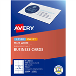 AVERY 959026 L7415 QUICK CLEAN BUSINESS CARD 150GSM 85 X 54MM MATTE WHITE PACK 1000