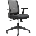 BRINDIS TASK CHAIR LOW MESH BACK ARMS BLACK
