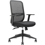 BRINDIS TASK CHAIR HIGH MESH BACK ARMS BLACK