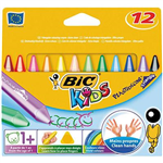 BIC KIDS PLASTIDECOR CRAYONS ASSORTED PACK 12