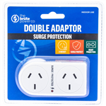 THE BRUTE POWER CO DOUBLE ADAPTOR FLAT RIGHT WITH SURGE PROTECTION