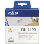 BROTHER DK11201 LABEL ROLL 29 X 90MM WHITE ROLL 400