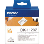 BROTHER DK11202 LABEL ROLL 62 X 100MM WHITE ROLL 300