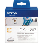 BROTHER DK11207 FILM LABEL ROLL CDDVD ROUND 58MM WHITE ROLL 100