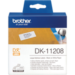 BROTHER DK11208 LABEL ROLL 38 X 90MM WHITE ROLL 400