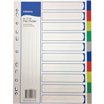 INITIATIVE DIVIDERS PP 10 TAB A4 ASSORTED COLOURS