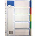INITIATIVE DIVIDERS PP 5 TAB A4 ASSORTED COLOURS