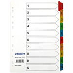 INITIATIVE INDEX DIVIDERS A4 110 TAB WHITE WITH MYLAR TABS