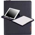 COLLINS CH1 COMPACT COMPENDIUM WITH NOTEPAD QUARTO 260 X 210MM ZIP CLOSURE NAVY BLUE