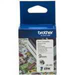 BROTHER CZ1001 LABEL ROLL 9MM X 5M WHITE