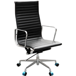 AERO MANAGERS CHAIR HIGH BACK ARMS LEATHER BLACK
