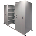 APC EZISLIDE AISLE SAVER 5 SHELVES 2500 X 2175 X 1200 X 400MM CYBER GREY