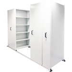 APC EZISLIDE AISLE SAVER 5 SHELVES 2500 X 2175 X 900 X 400MM WHITE