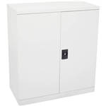 INITIATIVE STATIONERY CUPBOARD 2 SHELVES 910 X 450 X 1015MM WHITE CHINA