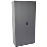 INITIATIVE STATIONERY CUPBOARD 4 SHELVES 910 X 450 X 2000MM GRAPHITE RIPPLE