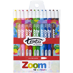 TEXTA ZOOM TWIST CRAYONS ASSORTED PACK 12