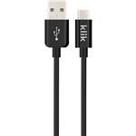 KLIK MICRO USB SYNC CHARGE CABLE BLACK 1200MM