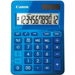 CANON LS123K MINI DESKTOP CALCULATOR 12 DIGIT METALLIC BLUE