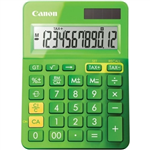 CANON LS123K MINI DESKTOP CALCULATOR 12 DIGIT METALLIC GREEN