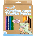 MICADOR JR COLOURUSH JUMBO TRIANGLE PENCILS ASSORTED PACK 12