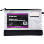 PROTEXT MESH POUCH WITH ZIPPER  NOTE POCKET 380 X 270MM