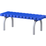 ABS BENCH SEAT PLASTIC WITH STAINLESS STEEL FRAME 450 X 1200 X 400 NAVY BLUE