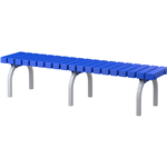 ABS BENCH SEAT PLASTIC WITH STAINLESS STEEL FRAME 450 X 1900 X 400 NAVY BLUE