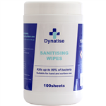 DYNATISE HAND SANITISER AND SURFACE WIPES TUB 100