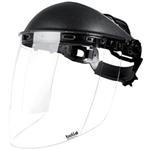 BOLLE SAFETY SPHERE FACE SHIELD WITH HEAD GEAR AND VISOR