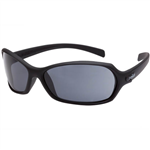 BOLLE SAFETY HURRICANE SAFETY GLASSES BLACK FRAME SMOKE LENS