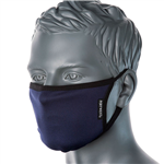 PORTWEST FABRIC FACE MASK ANTIMICROBIAL 3 PLY NAVY