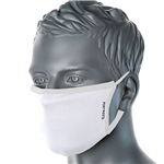 PORTWEST FABRIC FACE MASK ANTIMICROBIAL 3 PLY WHITE
