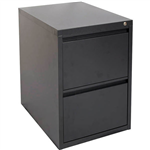 INITIATIVE FILING CABINET 2 DRAWER 475 X 600 X 720MM GRAPHITE RIPPLE