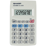 SHARP EL233S BASIC FUNCTION 8 DIGIT CALCULATOR WHITE